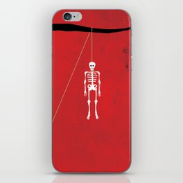 """Skeleton"" Halloween Poster iPhone Skin"