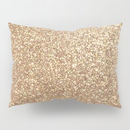 Copper Rose Gold Metallic Glitter Pillow Sham