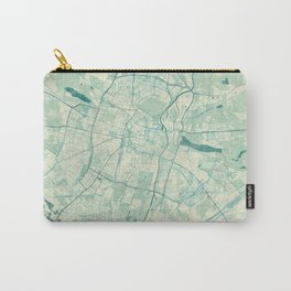Poznan Map Blue Vintage Carry-All Pouch