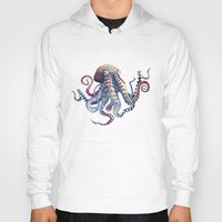 octopus Hoodies featuring Octopus by Sam Nagel