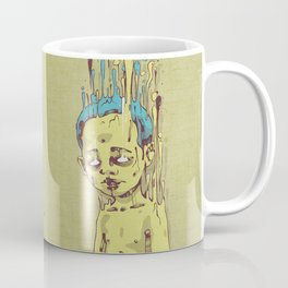 The Golden Boy with Blue Hair Coffee Mug