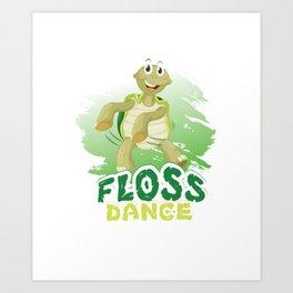 Floss Dance  Move Turtle Art Print