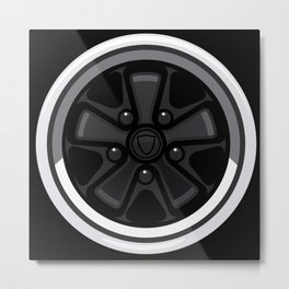 Wheel Design Retro Fuchs Felge Metal Print