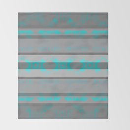 Southwestern Turquoise and Gray Throw Blanket