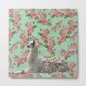 Floral Llama by vivinicolin