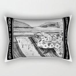 Amos Fortune Snake on Tracks Rectangular Pillow