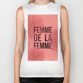 Femme De La Femme Flowers Biker Tank