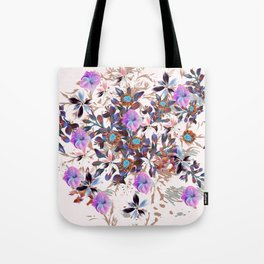 Beautiful watercolor flowers. Blue morning filed Tote Bag