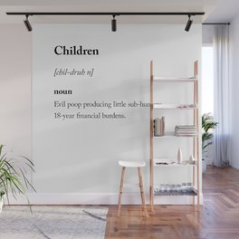 Children dictionary definition sarcastic Wall Mural