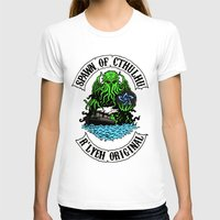 spawn T-shirts featuring Spawn of Cthulhu - R'lyeh Original by Azhmodai