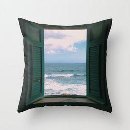 Atlantic Morning Throw Pillow