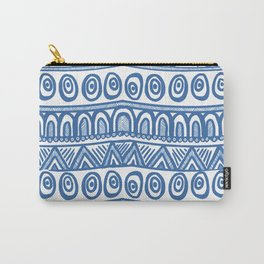 Geo Blue Carry-All Pouch