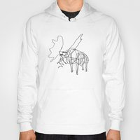 the wire Hoodies featuring Wire Moose by RoverElk