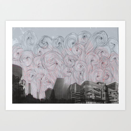 Burning Down The City Art Print