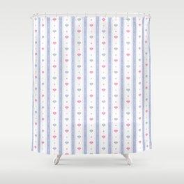 Soft Flowers Wallpaper Shower Curtain