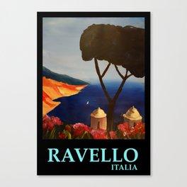 Ravello Salerno Italy View Of Amalfi Coast From Villa Rufolo Canvas Print