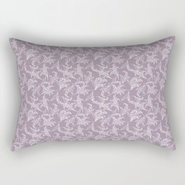 Vintage-style Lily-of-the-Valley on Mauve Rectangular Pillow