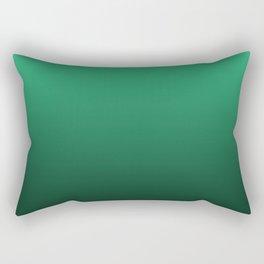 Turquoise, green, black gradient, Ombre. Rectangular Pillow