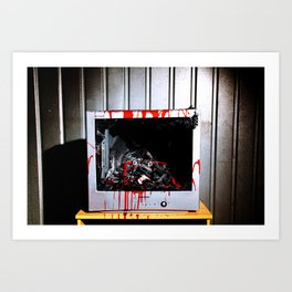 Suburban Zombie or The Decay of the Mind. Art Print