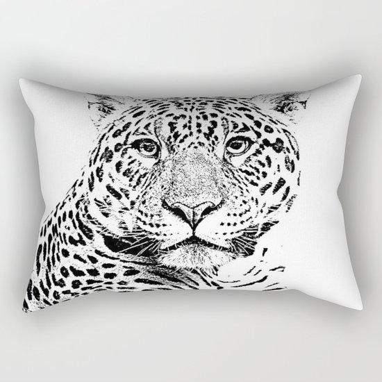 Cheetah Sketch Rectangular Pillow