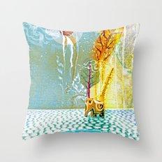 Salatarian EYELAND Lagoon Throw Pillow