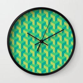 Woven Greens Wall Clock