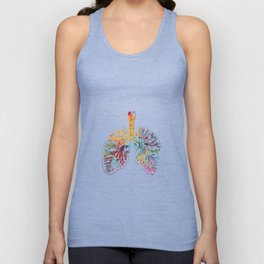 Anatomical Lungs Unisex Tank Top