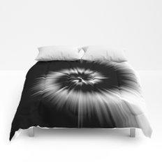 TIE DYE #1 (Black & White) Comforters