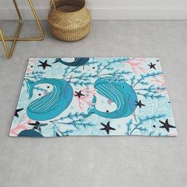 Whales pattern design Rug
