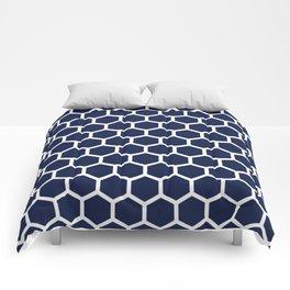 Navy Blue Honeycomb Comforters