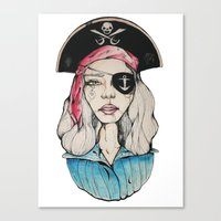pirate Canvas Prints featuring Pirate by Bruno Gonçales