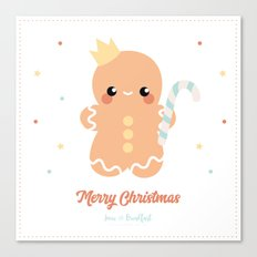 Kawaii Gingerbread Canvas Print