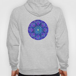 Lotus 2 - blue and purple Hoody