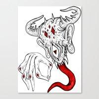 devil Canvas Prints featuring devil by Ichsjah