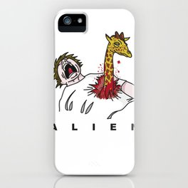 Alien Jirafa iPhone Case