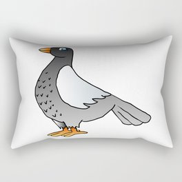 cartoon pigeon. Rectangular Pillow