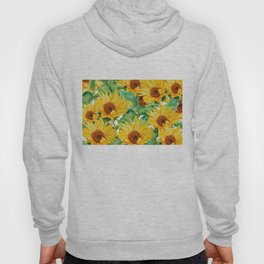 sunflower pattern Hoody