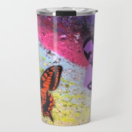 """Skeptical Butterfly"" Travel Mug"