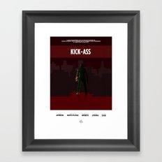 Kick Ass Print Framed Art Print