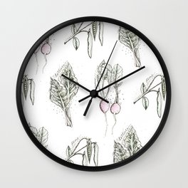 Many Veggies Wall Clock