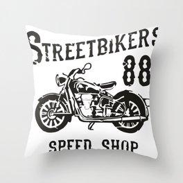 Street Bikers Throw Pillow