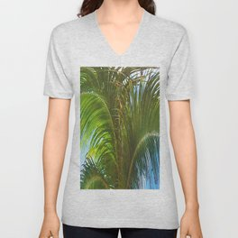 437 - Abstract Palm Tree Design Unisex V-Neck