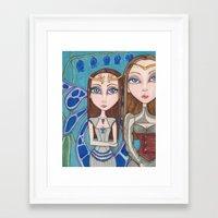 fairies Framed Art Prints featuring Fairies by Jennifer D. S. Stedman