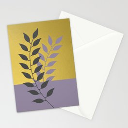 Simply Botanical Gold Grey Lilac Purple Stationery Cards