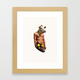 Muscle Cow Framed Art Print