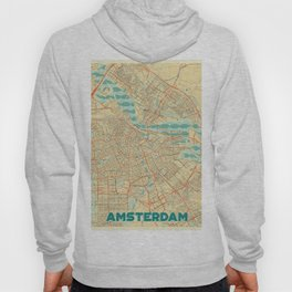 Amsterdam Map Retro Hoody
