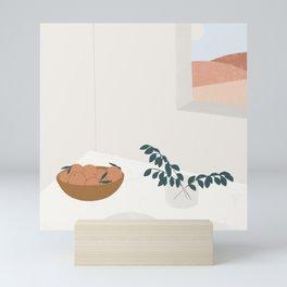 breakfast table Mini Art Print