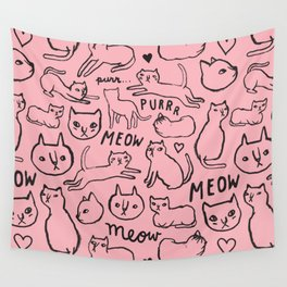 Meow Cats Wall Tapestry