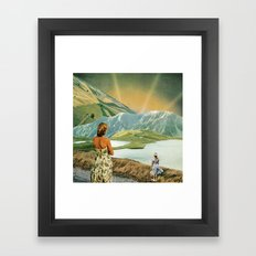 The Beginning or The End Framed Art Print