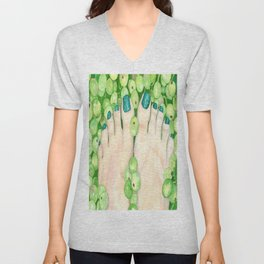 Green Grapes and Pedicure Unisex V-Neck